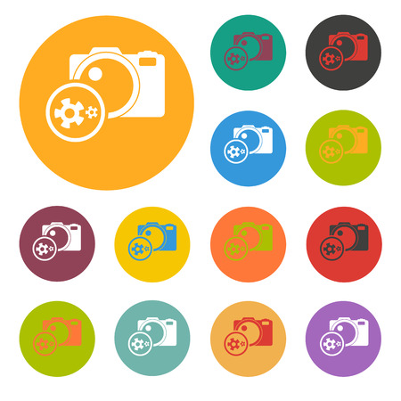 cam gear: photographic equipment repair icon