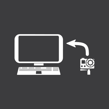 touchpad: copy photo icon Illustration