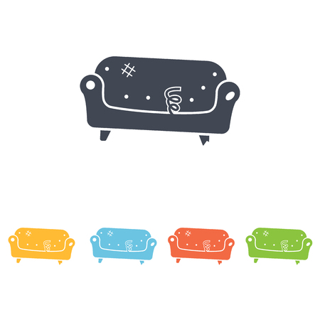 love seat: sofa icon