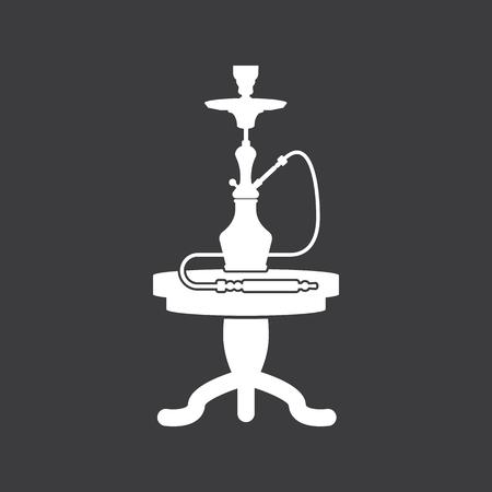 personal ornaments: shisha and table icon Illustration