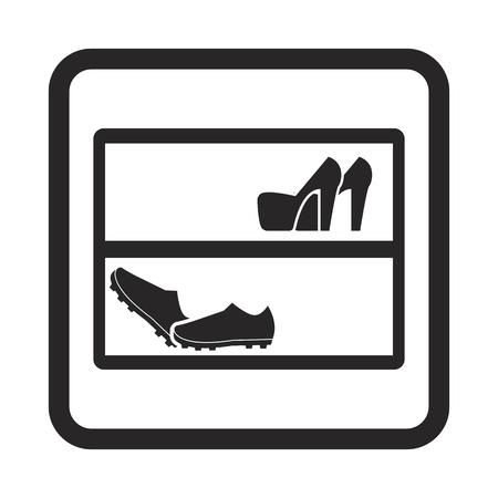 shoe cabinet icon 向量圖像