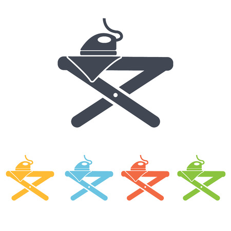 domestic task: ironing board icon Illustration