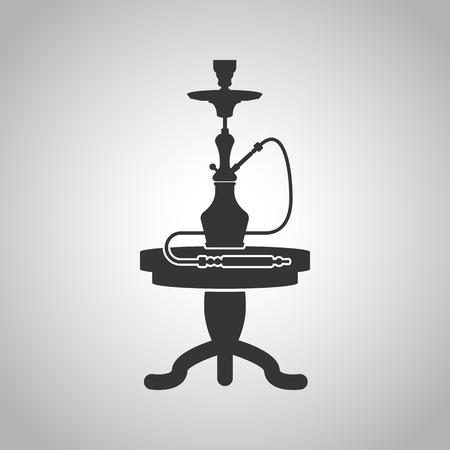 shisha: shisha and table icon Illustration