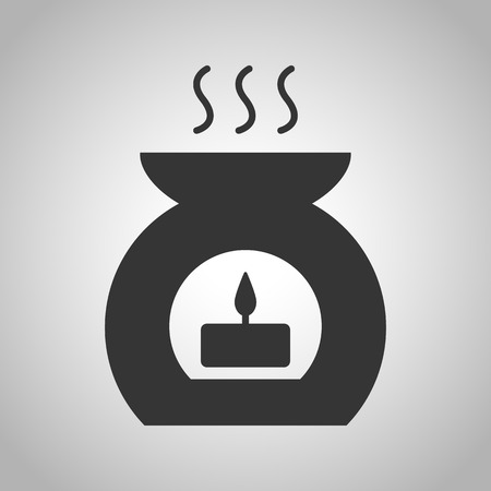scented candle: aromatherapy candle icon Illustration