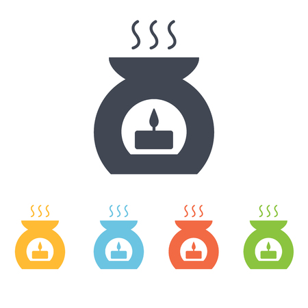 aromatherapy candle: aromatherapy candle icon Illustration