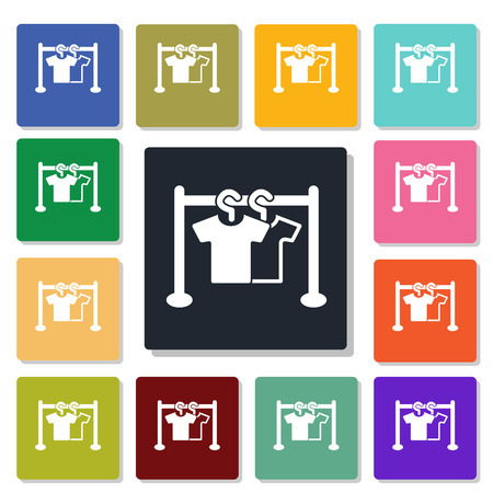 clothes hanger: clothes hanger icon Illustration