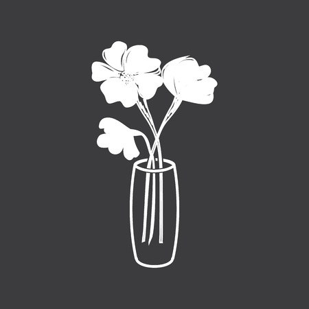 vase of flowers: flowers in a vase icon