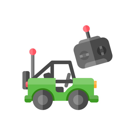 move controller: toy car icon Illustration
