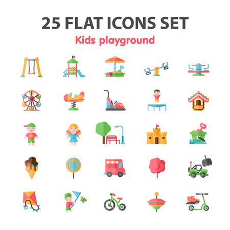 playground icon set Ilustração Vetorial