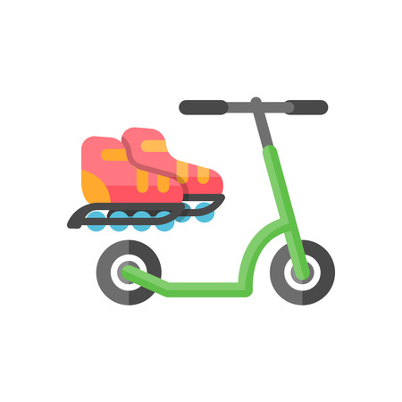 rollers: Kick scooter icon