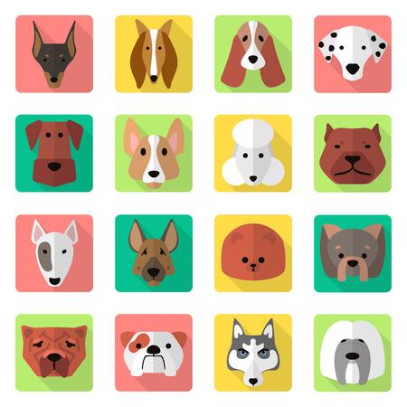 bullmastiff: dogs icons set
