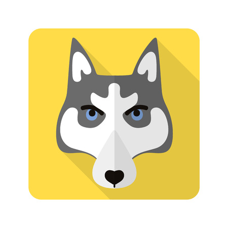 hond platte pictogram