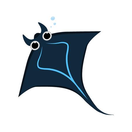 cramp: cramp fish icon Illustration
