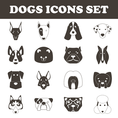 doggie: dog icon set