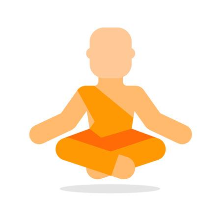 buddhist monk: Buddhist monk icon