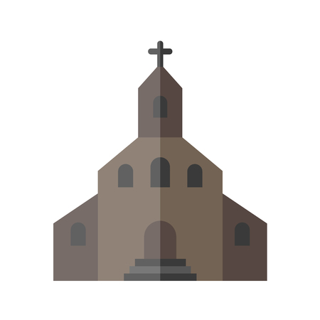 old church: Catholic Church icon Illustration
