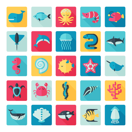 creatures: sea creatures set icon