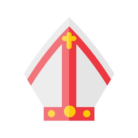 모자 교황 아이콘 일러스트