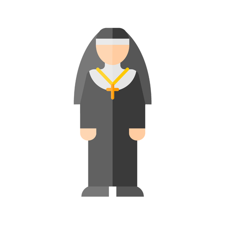 clergy: Christian nun icon Illustration