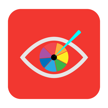 correction: laser vision correction flat icon Illustration
