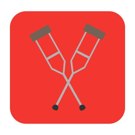 misfortune: crutches flat icon