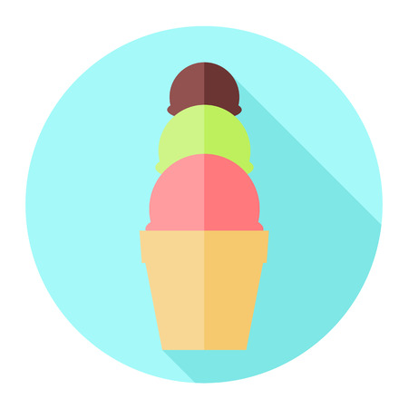 ice cream cup: ice cream cup flat icon