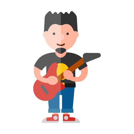 icono plana músico