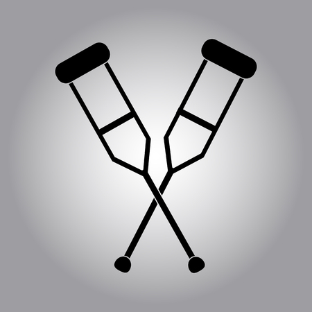 amputee: crutches icon