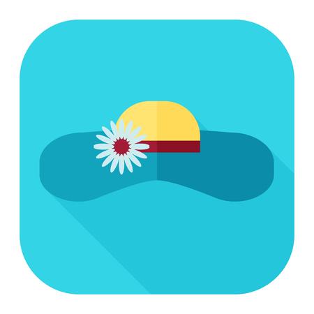 brim: beach hat icon