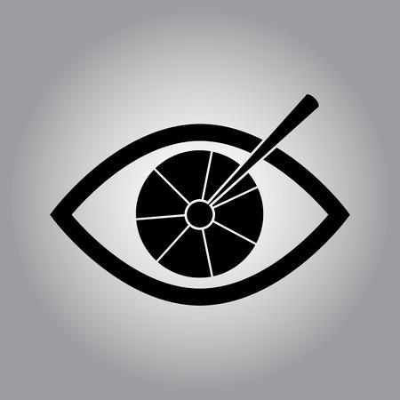 corrections: laser vision correction icon Illustration