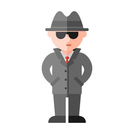 mal: spy flat icon Illustration