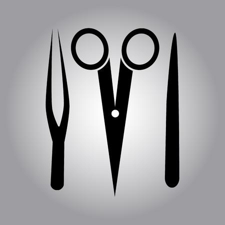 surgeon: surgeon tools icon Illustration