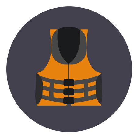 protective: protective vest flat icon