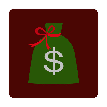 bag of money: Bag with money icon