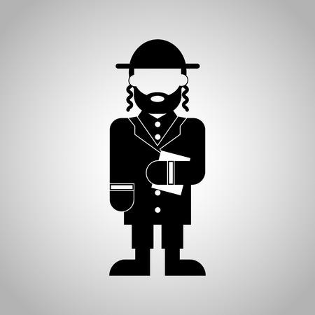 hasid: Jewish priest icon