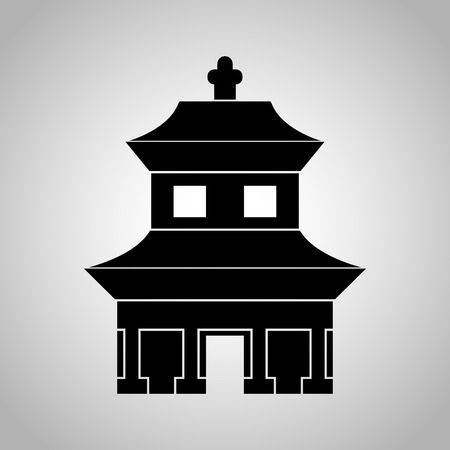 place of worship: Chinese temple icon