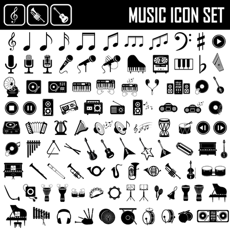 muziekinstrumenten icon set Stock Illustratie