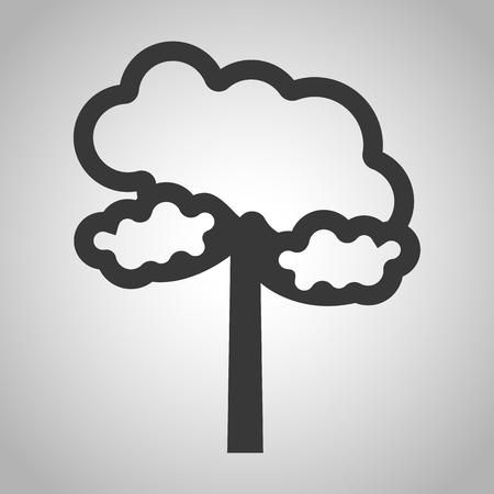 coniferous forest: icono de árbol