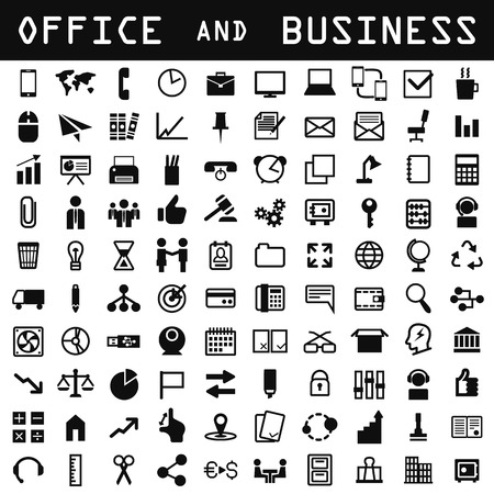 timing: office and business icon set Illustration