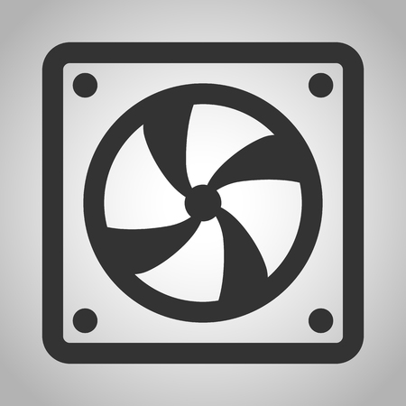 overheat: ventilation icon Illustration