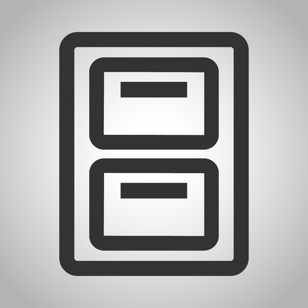 cabinets: filing cabinets icon Illustration