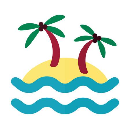 tropical: tropical island icon