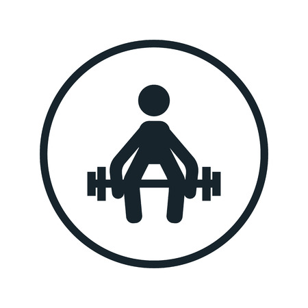 levantamiento de pesas: icono de pesas