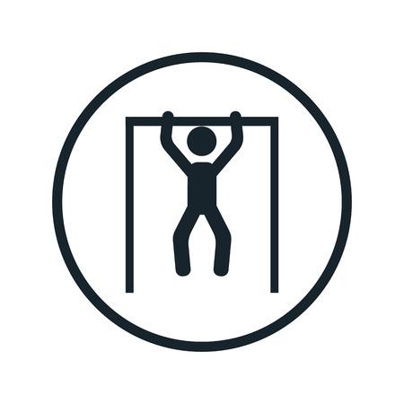 gymnastic horizontal bar icon