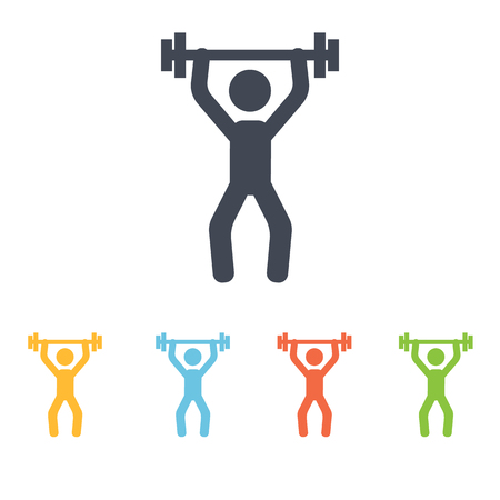 weightlifting: weightlifting icon Illustration