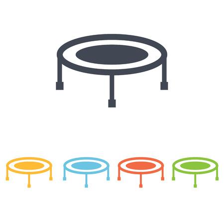 sport mats: trampoline icon Illustration