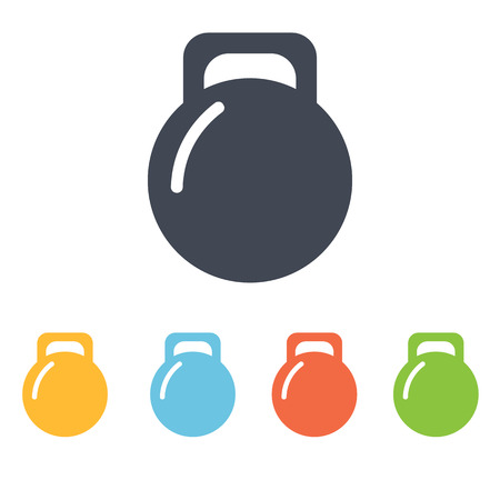 dumbell: weight icon Illustration