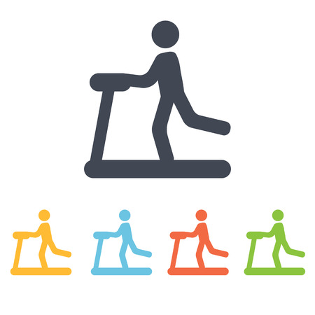 gymnasium: Treadmill icon Illustration