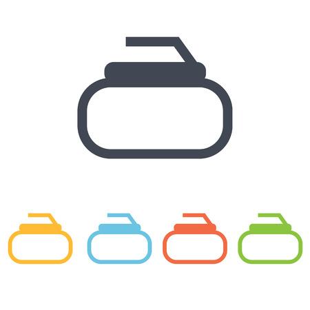 curling: curling icon Illustration