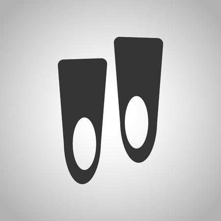 dive trip: flippers Illustration